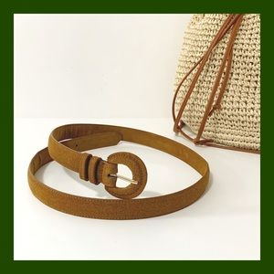 NWOT; Brown suede Belt